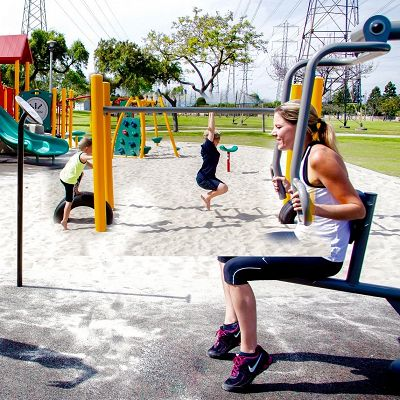 GTfit outdoor gym equipment is built for ages 13+.