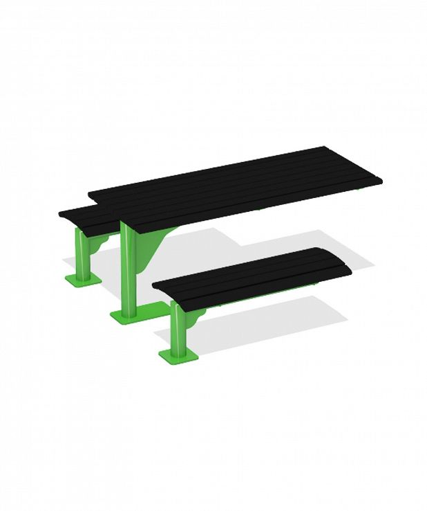 Series 1600 Table with Seats, Recycled Plastic