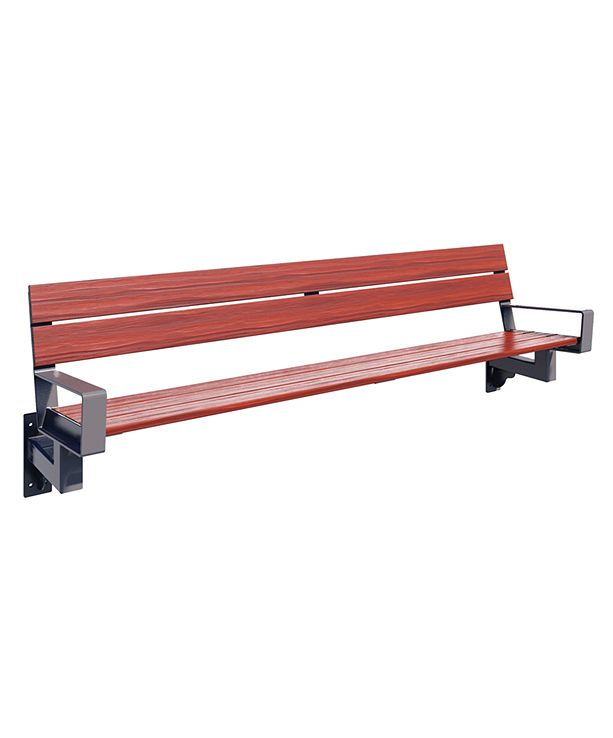 Series 1700 Bench, 8', Wall-Mount