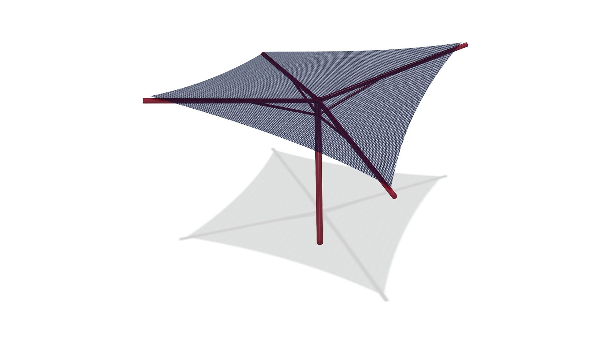 Hyperbolic Umbrella Shade - 14' x 14' x 10' High