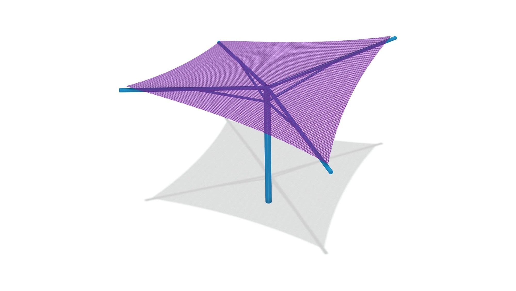Hyperbolic Umbrella Shade - 12' x 12' x 8' High (Surface Mount)