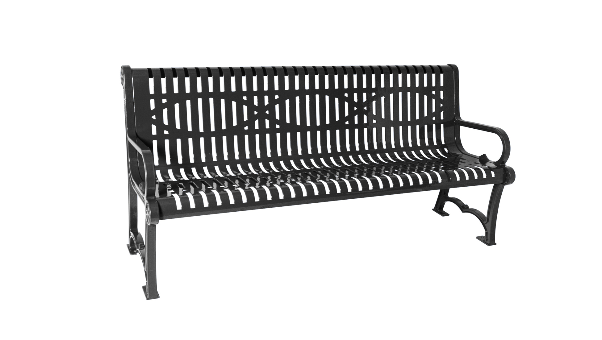 Series 1100 Bench, Wave Style