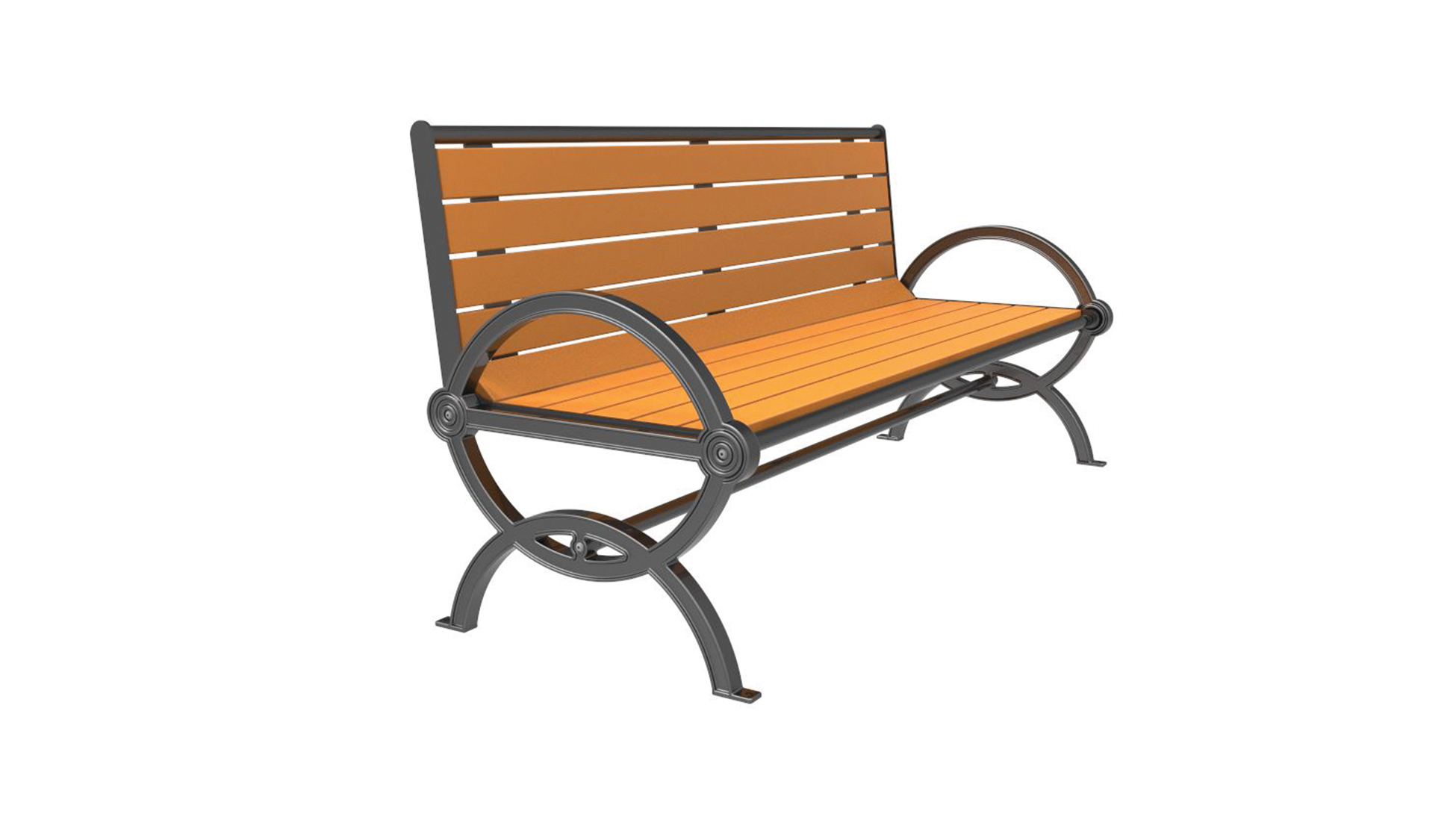 Series 1200 Bench, Recycled Plastic