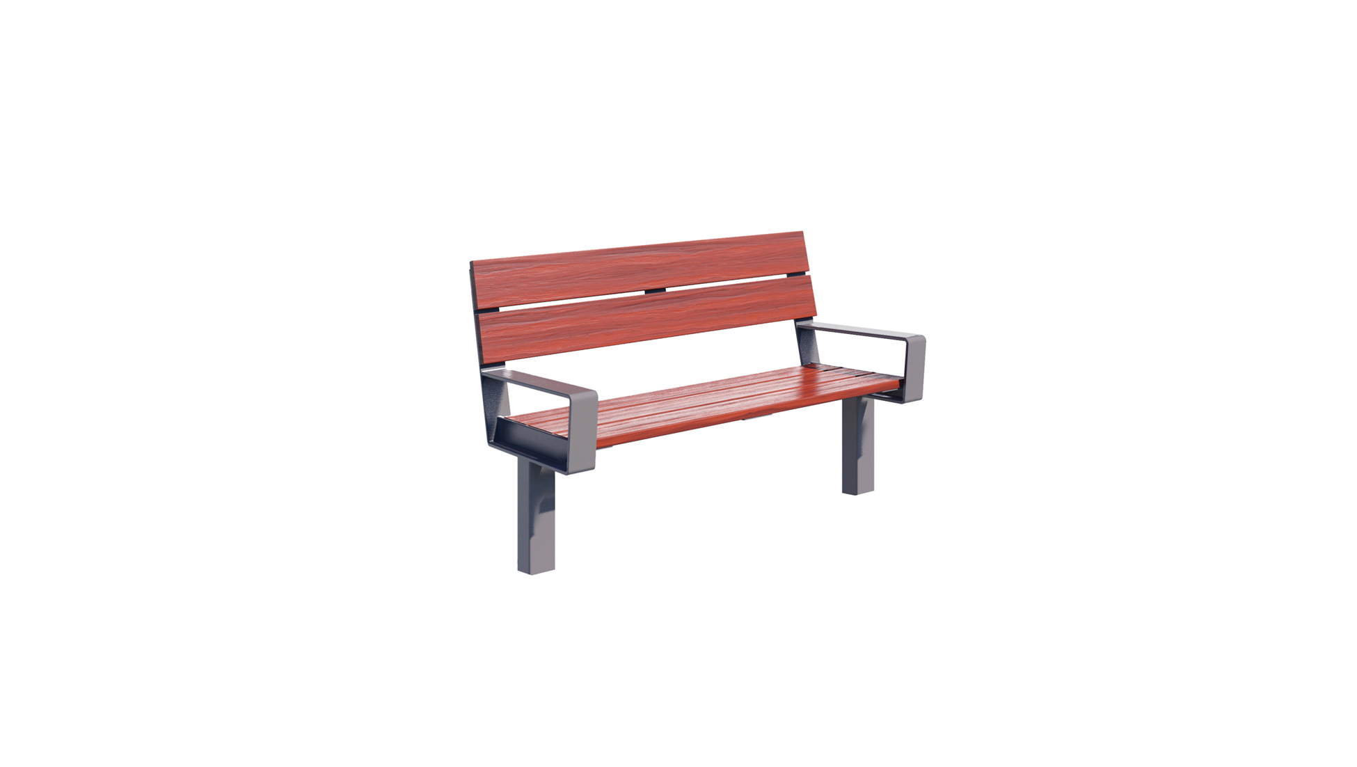 Series 1700 Bench, 4', Batu Wood