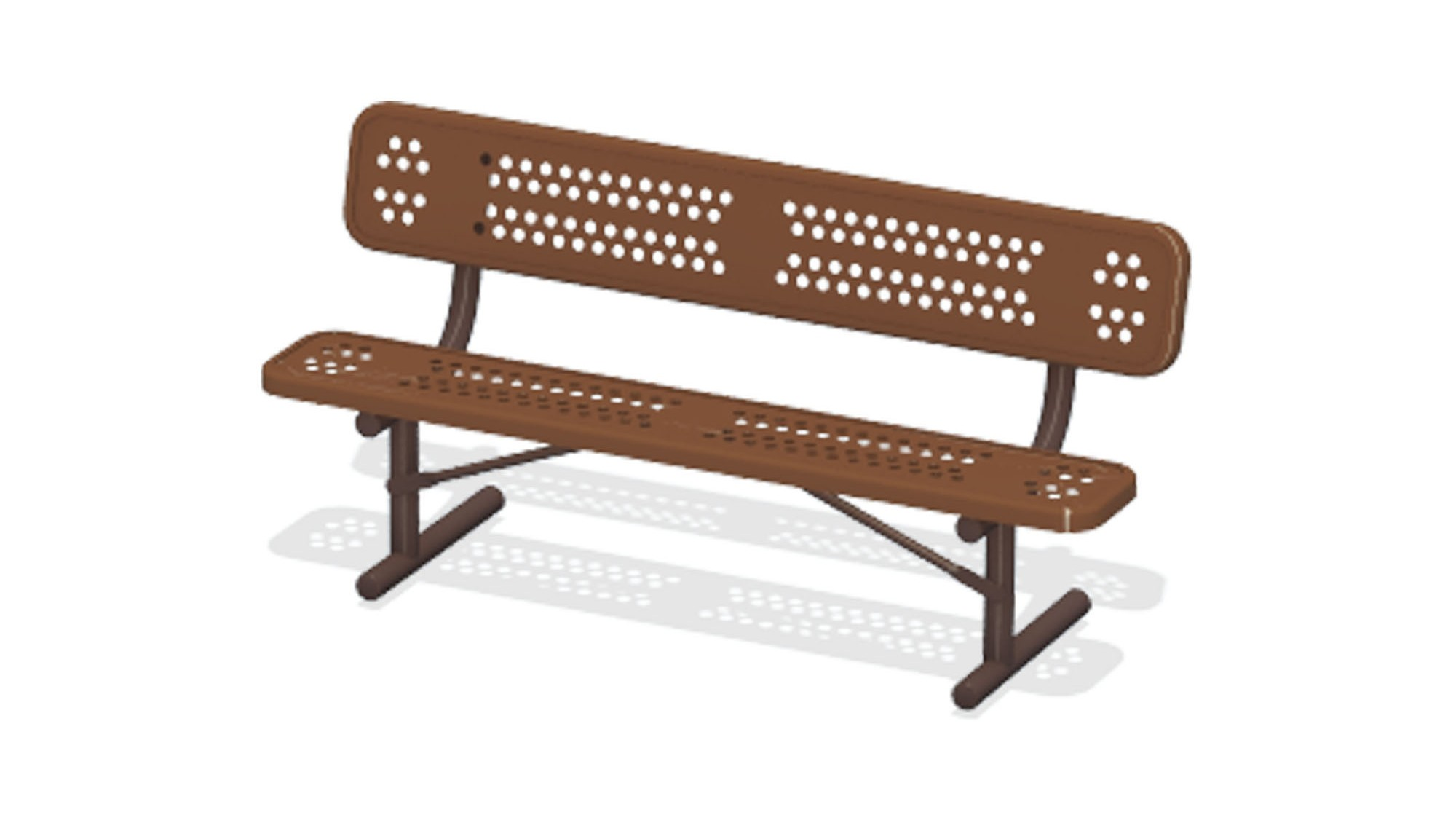 6' Duraclad Bench w/Back - Portable